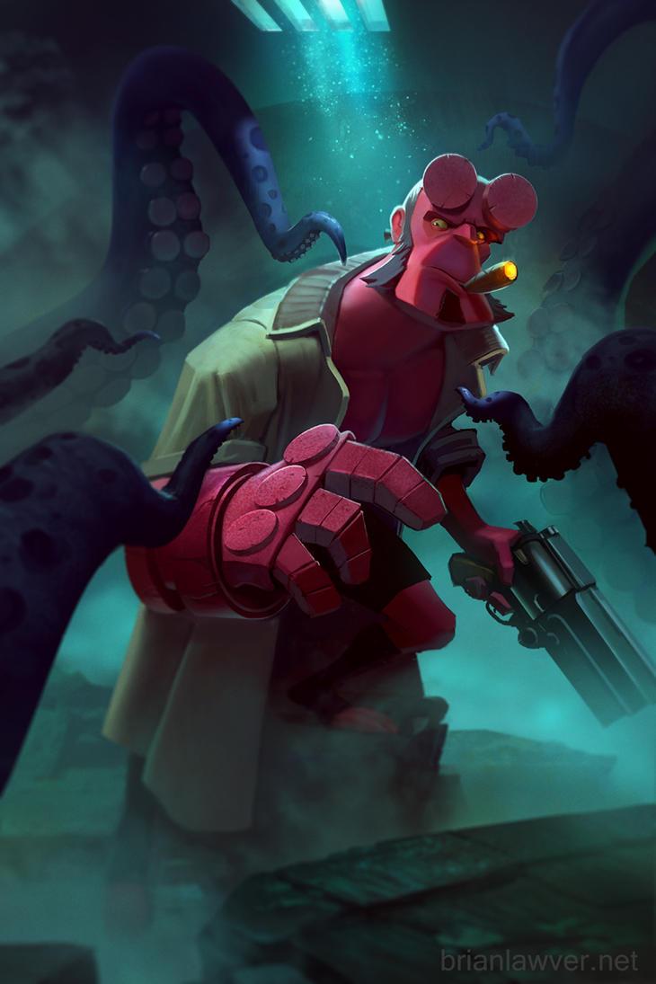 HellBoy Tentacle Time! by lawvalamp