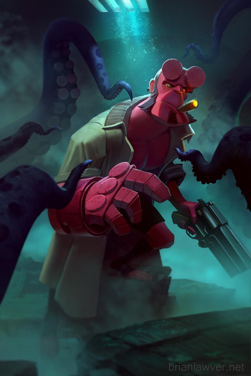 HellBoy Tentacle Time!