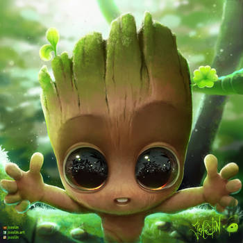 Baby groot by Joaslin by JoAsLiN