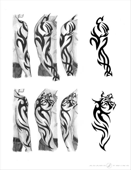 Tiger Sleeve Tattoo by Adams-Twins on DeviantArt