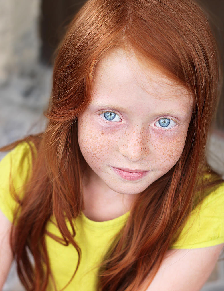Redhead With Blue Eyes
