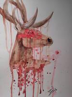 Off-White Black Spirit Deer by Fiery-vulpes