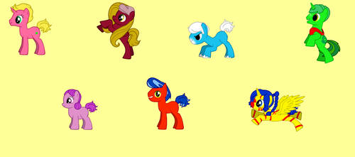 The Rubbadubbers Cast as Ponies