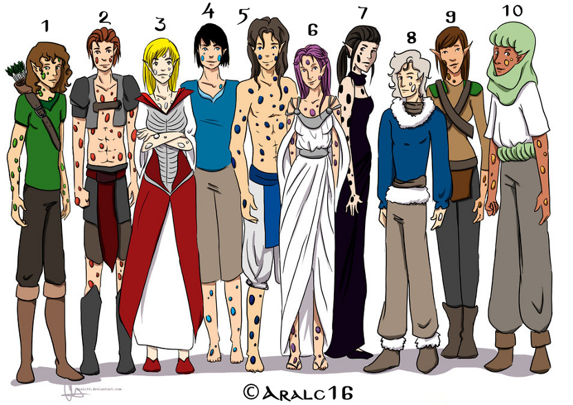 Linajes de Elfos Gemados de Yurops por aralc16