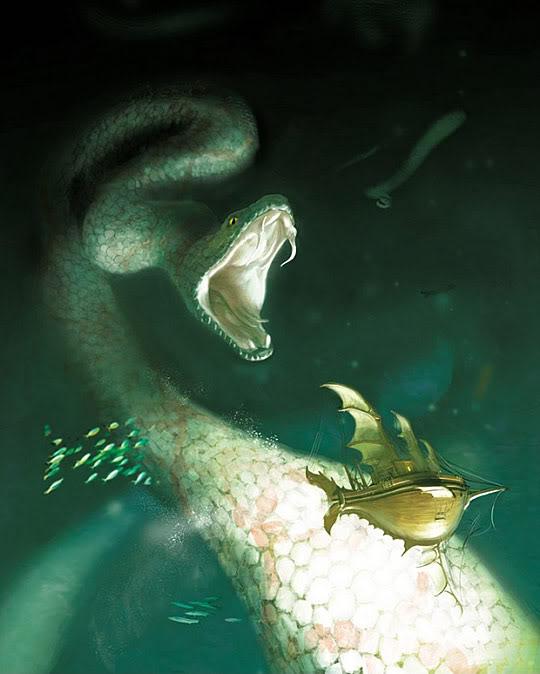 Serpiente-Dragón guiando a los mensch
