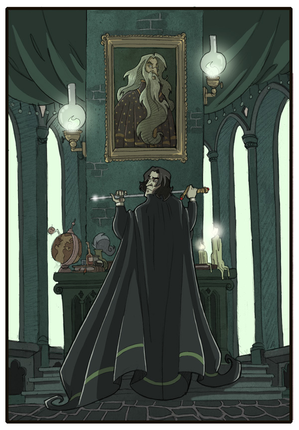 Snape and Dumbledore -HP7- by kyla79 on DeviantArt Dumbledore Vs Snape