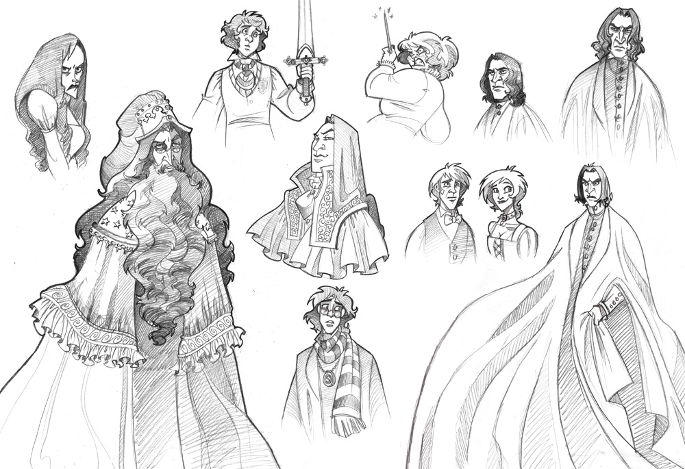 """Harry Potter"" Sketches by kyla79"