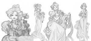 More Art-Nouveau Ladies