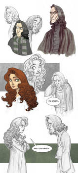 Snape and Lily sketchdump