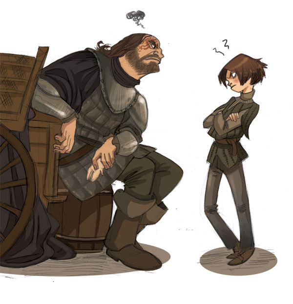 arya and the hound by kyla79 on deviantart. Black Bedroom Furniture Sets. Home Design Ideas