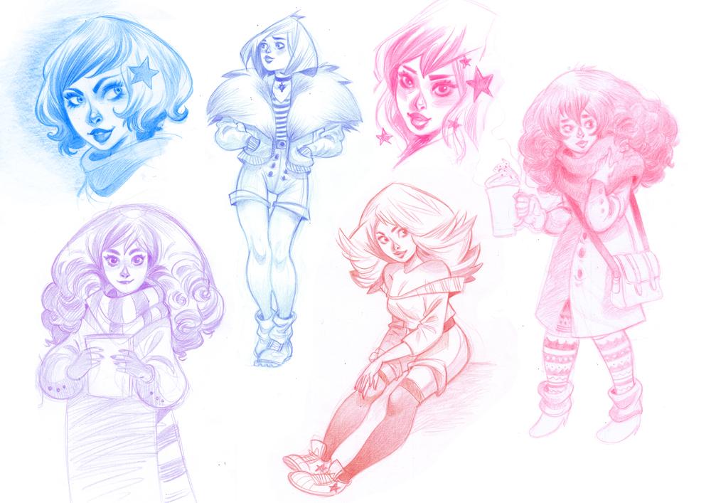 Bunch of girls by kyla79