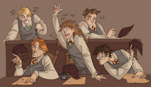 Typical Hogwarts Class Scene