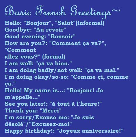 Basic French Greetings by noa748 on DeviantArt