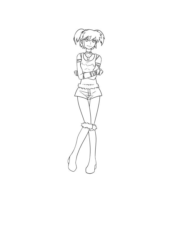 D Line Drawings Not Working : Rave working girl line art by matsurikudo on deviantart