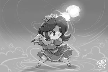Chibi Smashing Princess Daisy by ShoNuff44 by greatdragonad