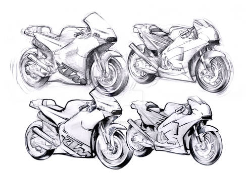 Honda and KTM Red Bull Design Scribbling