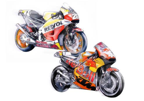 Honda and KTM Red Bull Design