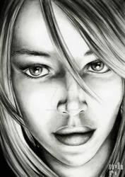 Concept Art Bleistift Portrait