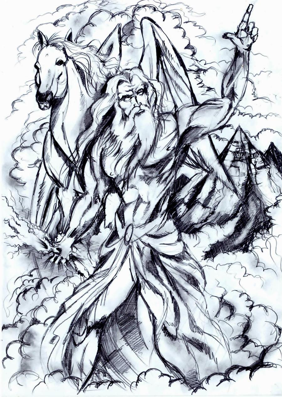 Zeus and Pegasus by Xadeu