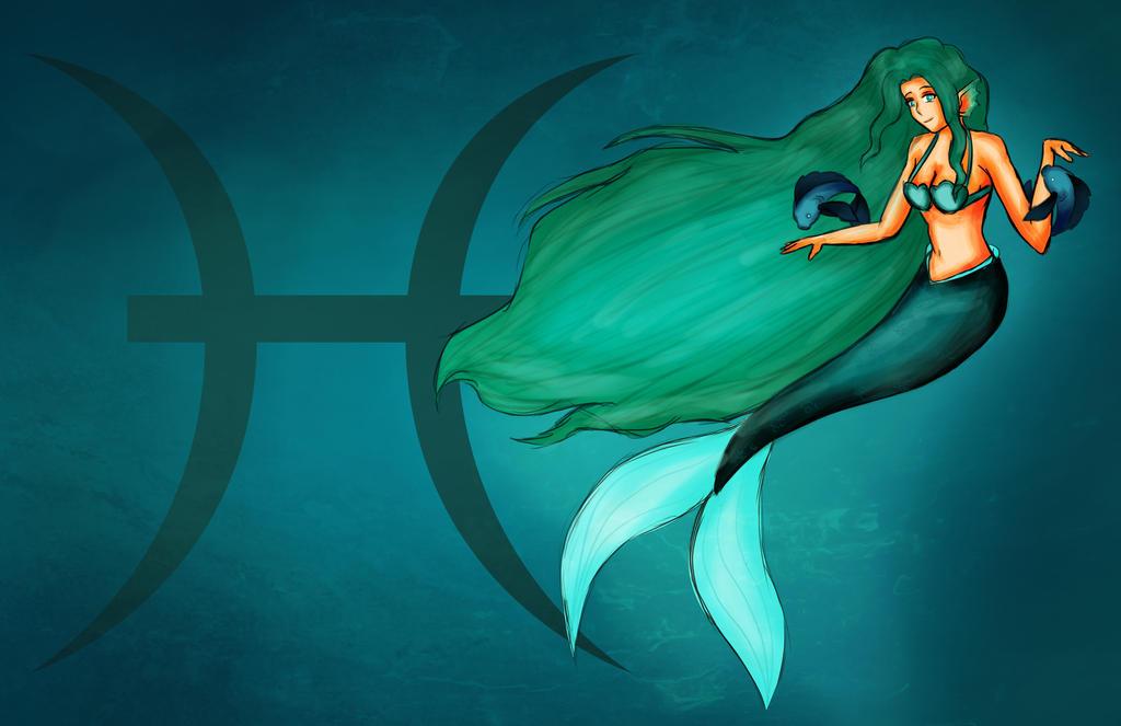 Mermaid Pisces By Naki Dono