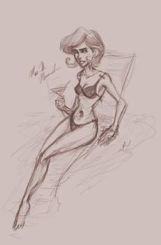 Dr. Mrs. Monarch Poolside