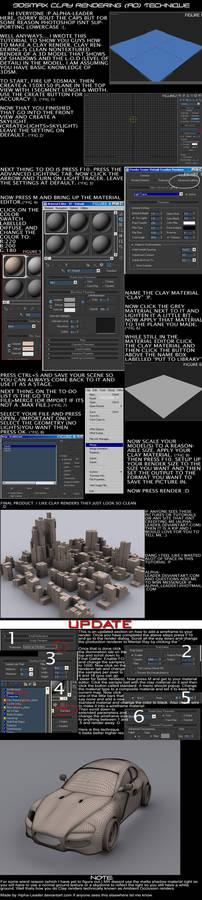 Clay renders in 3dsm