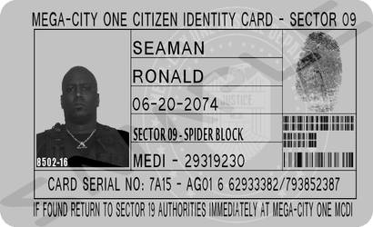 Mega-City Citizen Identification Card by MpulseCreations