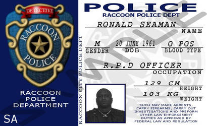 Resident Evil: Raccoon City Police Department ID by MpulseCreations
