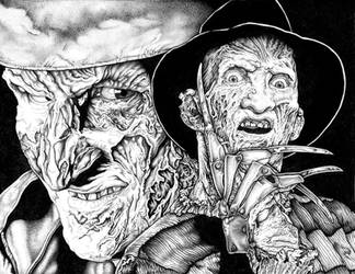 Freddy Krueger Collage - A Nightmare on Elm Street by UpfromtheDepths