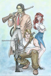 Commission: Red Moon Squad #1 by Byrsa