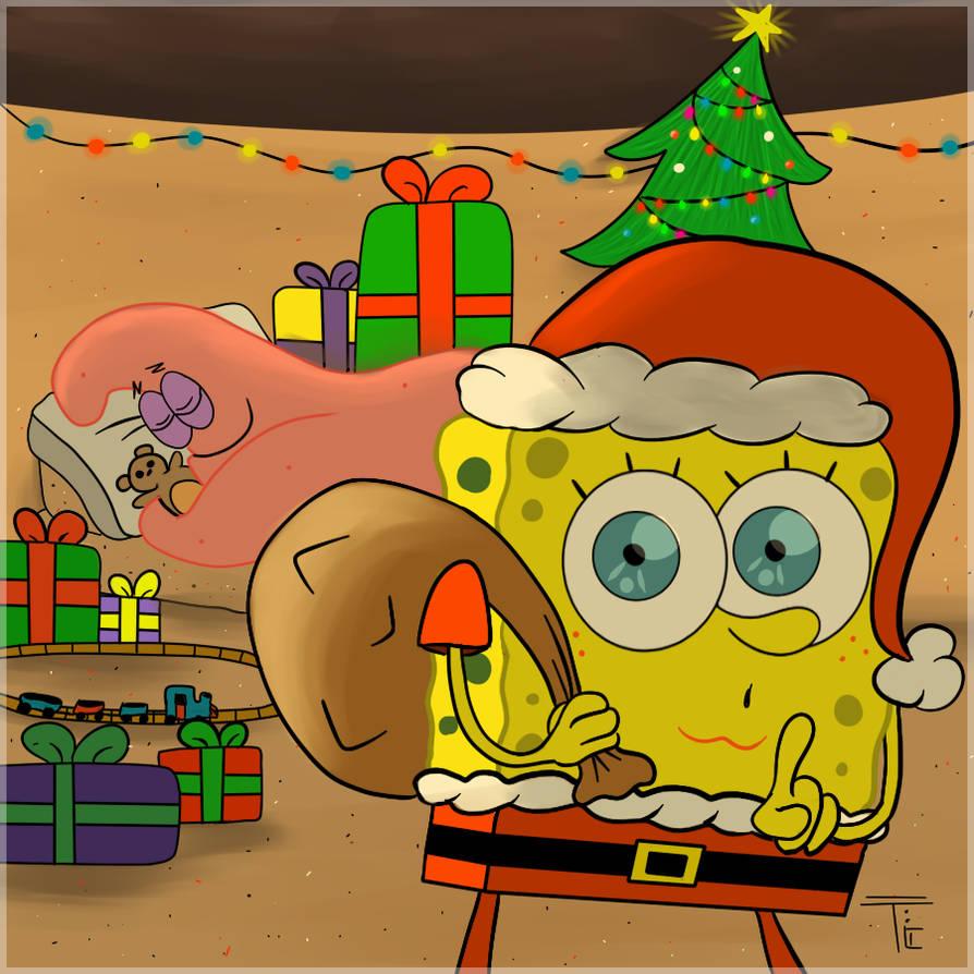 spongebob christmas by torncookie d4jmgy6