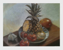 Oil Pastel Still Life Number 2 by Grocery-King