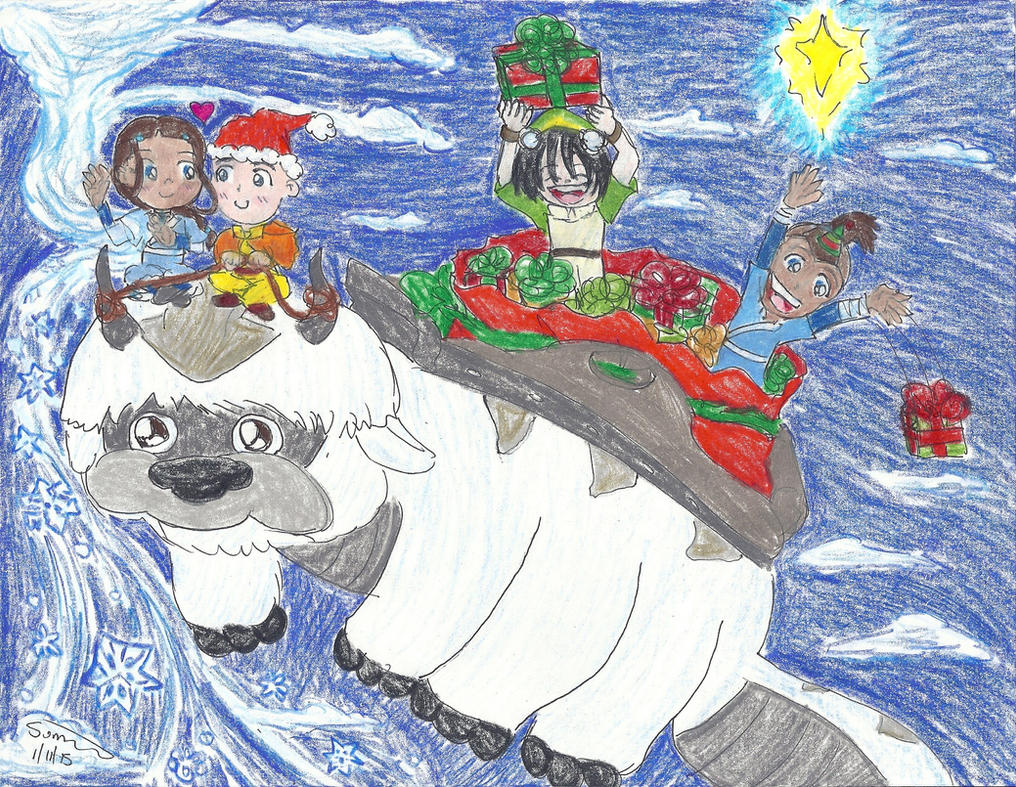 Team Avatar Christmas Joy by ChibiSunnie