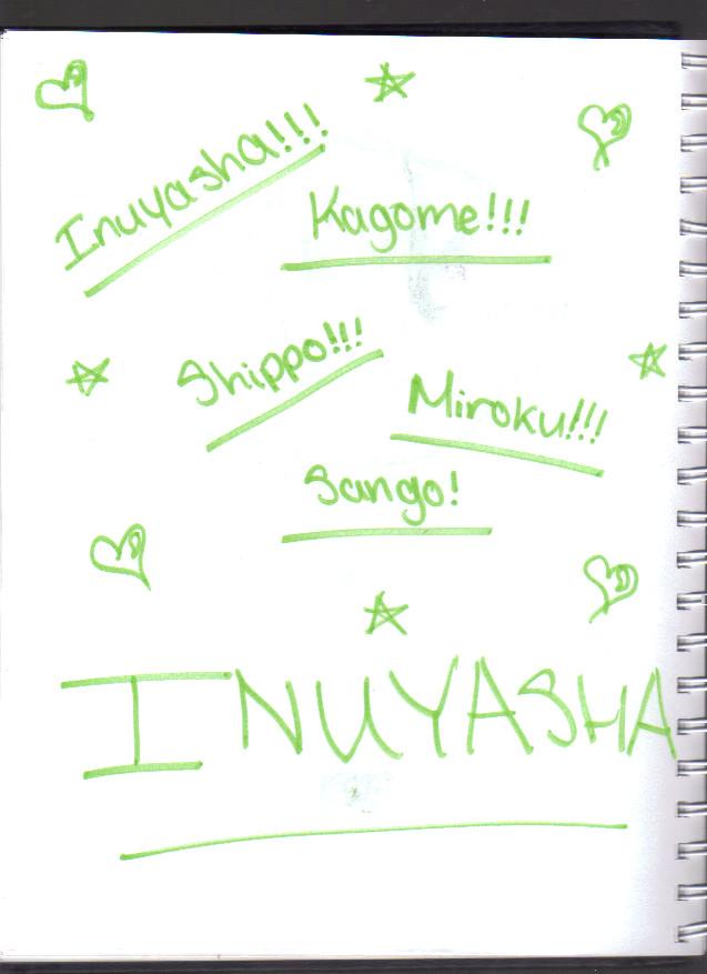 Inuyasha Character Names By Hannah2323 On Deviantart