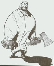 hatchet guy by Schooley