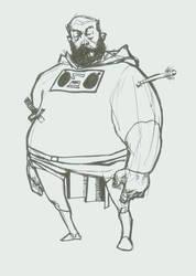 fat superhero by Schooley