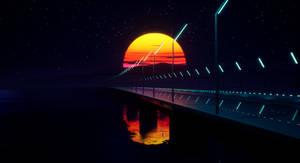 Bridge over the ocean