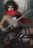 Mikasa by thirteenthangel