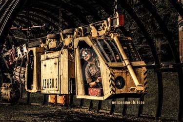 Ciberpunk Steampunk Travel on a Train