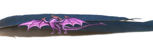 Feather Art: Purple Dragon
