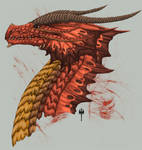 Red Dragon Head Side view