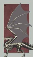 Red Dragon Skeleton