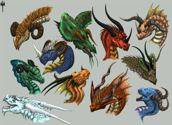 Exotic Dragon Horns by Sheranuva