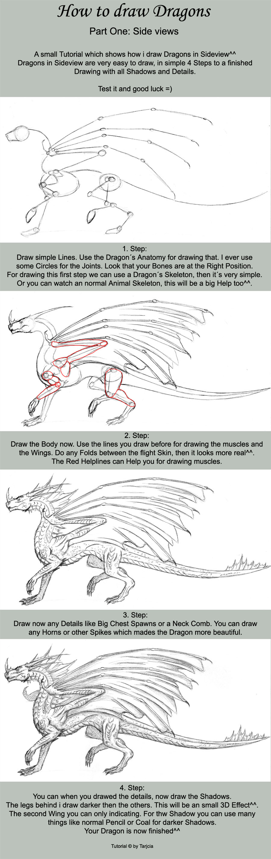 How to draw Dragons Part One