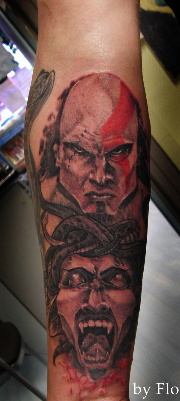 Kratos tattoo the image kid has it for Kratos tattoo design