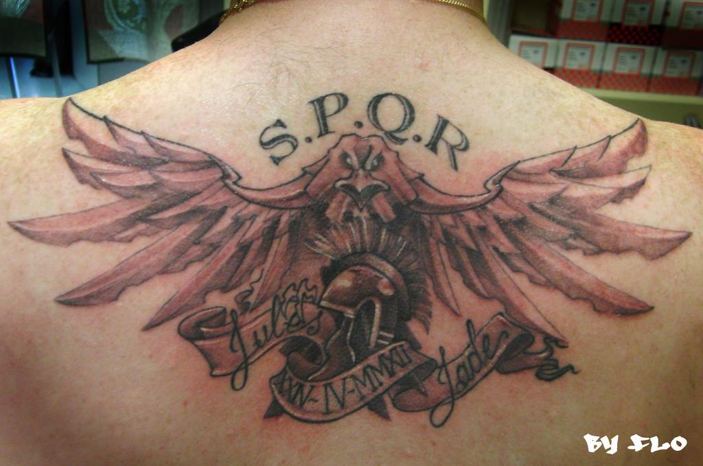 Spqr Roman Soldier Tat...