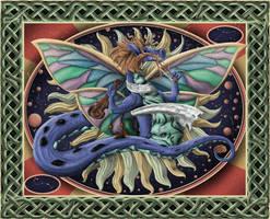 Shabby Dragons Tapestry