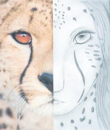 Half Human Half Animal Drawing Half animal half human by