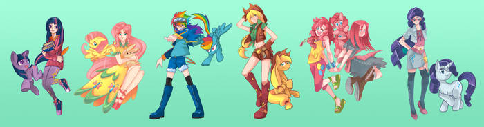 MLP-The Mane 6 by Sapphire1010