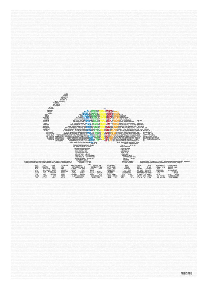 Computer Game Company Poster with Typography 3 by artisan3